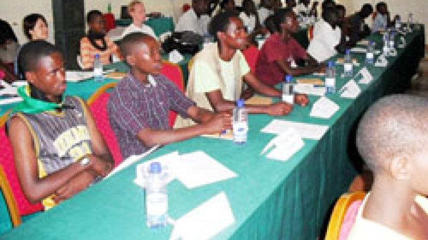 A cross-section of participants during the youth  forum in Bugesera District recently. The New Times /Grace Mugoya.