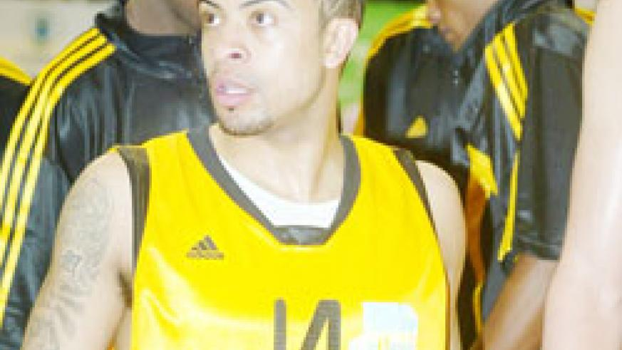 Rwanda's point guard Mathew Miller had a quiet game yesterday. The New Times / File  Photo