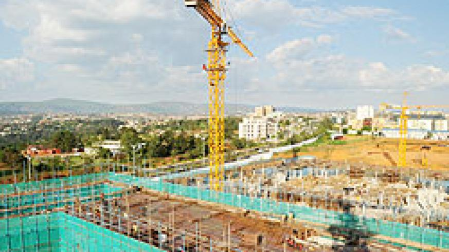 The Kigali Convention centre is one of the major ongoing construction projects in the country. Construction attracted investments worth over US$900m The New Times/ File Photo