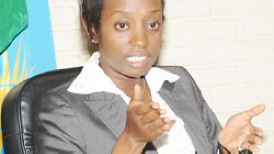 The  Acting Director General of NISR Diane Karusisi.
