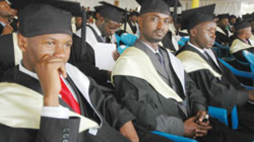 The National University of Rwanda graduands during a past event; UNR presently has more than 20 Masters programs. The New Times /File Photo