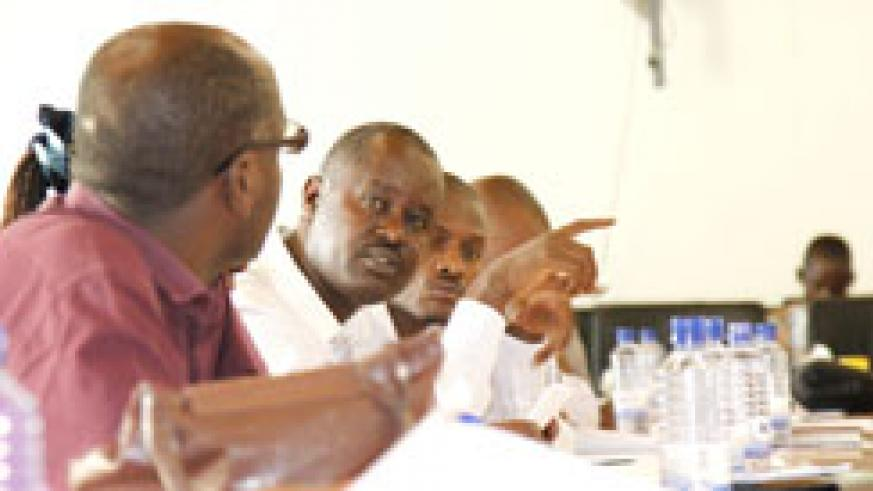 Various stakeholders discuss media guidelines in preparation for the forthcoming senatorial elections. The New Times /Timothy Kisambira.