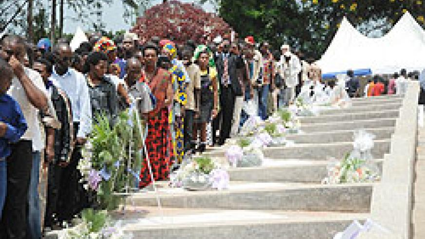 Mourners at a commemoration event at Rebero cementry. IBUKA will commission a survey on the impact of Genocide commemoration. The New Times /File photo