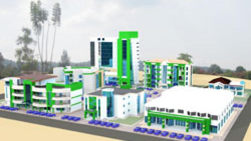An artist's impression of the projected Islamic Headquarters to be constructed at a cost of Rwf  5bn. The New Times /Courtsey.