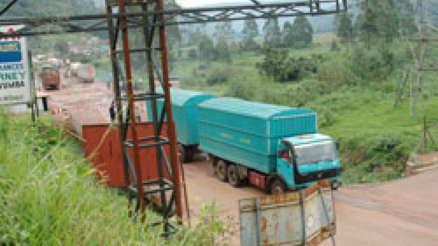 The Kigali-Gatuna road where most of the country's imports pass through will be refurbished soon. The New Times /File.
