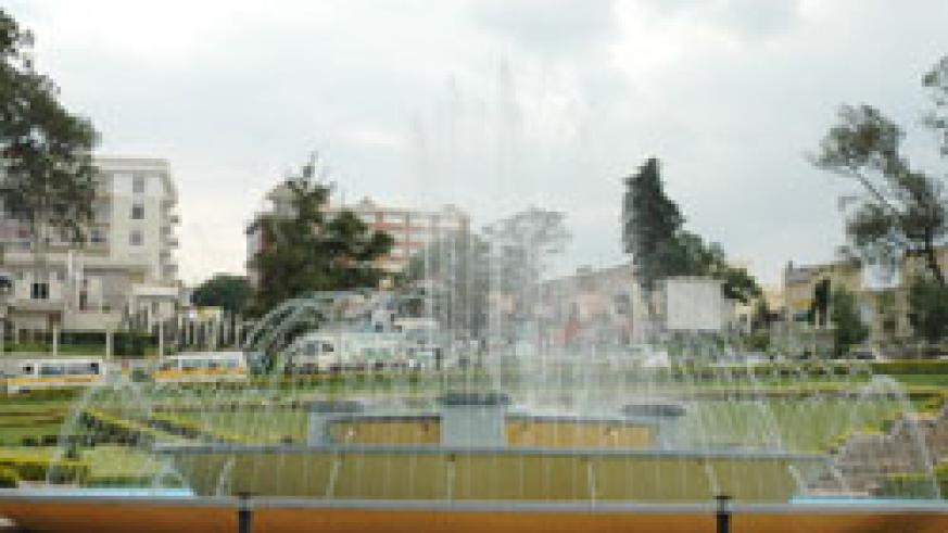 Kigali City round about. Pedestrian fly-overs  will be constructed to ease connection to various parts of the city. The New Times /File.