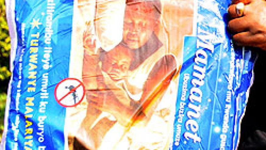 Countrywide campaigns including distribution of treated mosquito nets has led to a significant decrease in malaria. The New Times /File photo