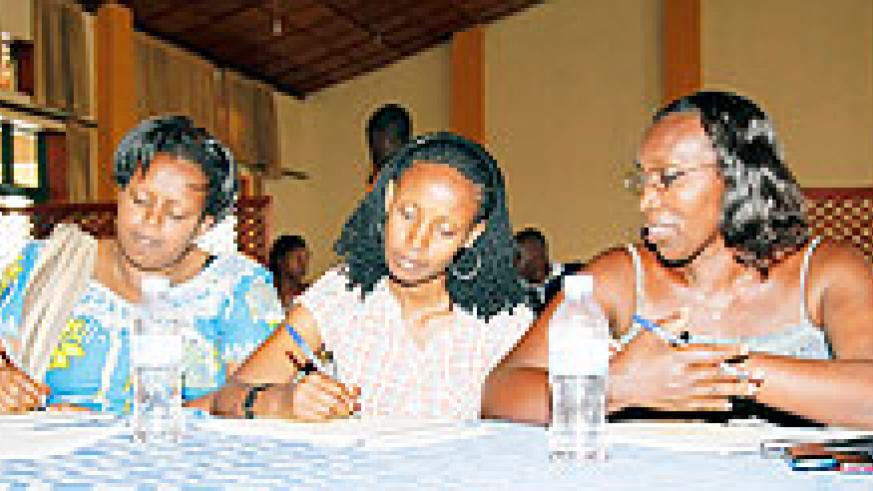 Participants during the gender workshop by district officials yesterday. The New Times /Timothy Kisambira
