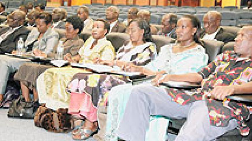 Some of the senatorial candidates that will start canvassing for votes today. The New Times /File photo