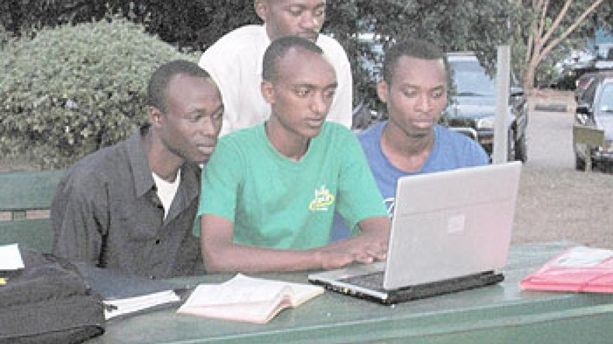 A group of students intent on learning to pass their examinations.