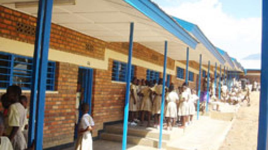 A school in Kigali; Government has announced an ambitious plan to connect 300 schools to electricity. The New Times /File.
