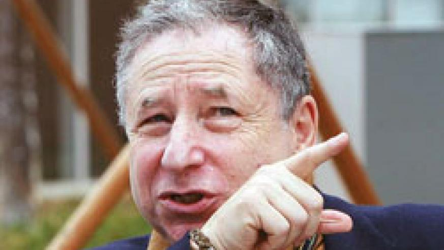 Jean Todt is in Rwanda to promote UN Decade of Action for road safety. Net photo.