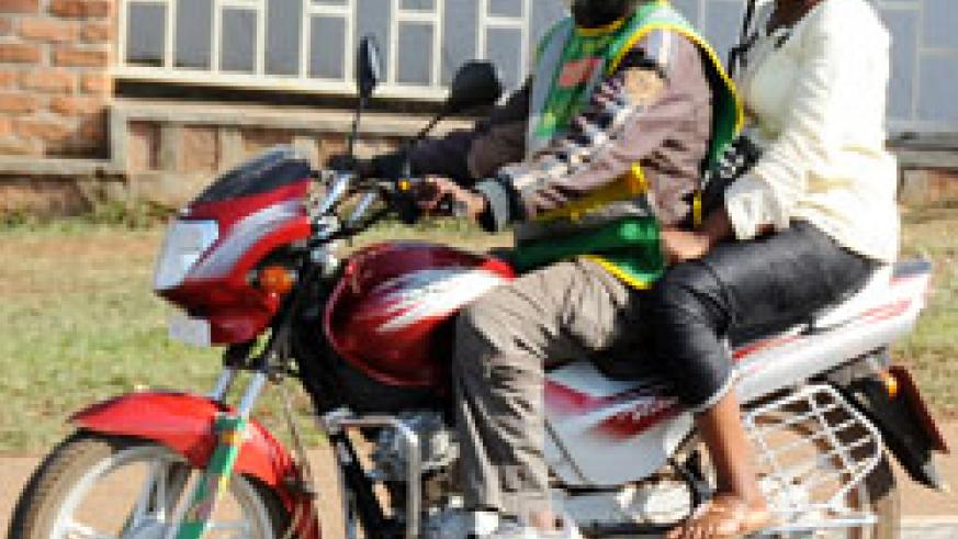 RURA has warned taxi-moto operators against hiking fares. The New Times /File.