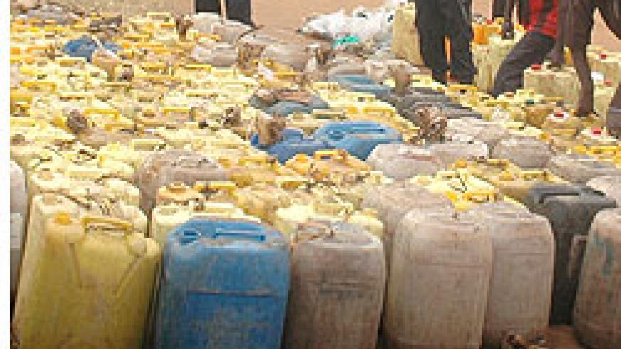 Illicit brew has remained an issue of concern among Gicumbi residents. The New Times /file.