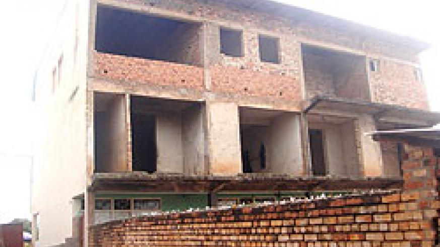 The rear view of the closed building in Rwamagana town. The New Times/ S. Rwembeho.