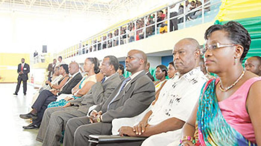 A cross section of Senate candidates at the launch of campaigns in Kigali. The New Times / T. Kisambira.
