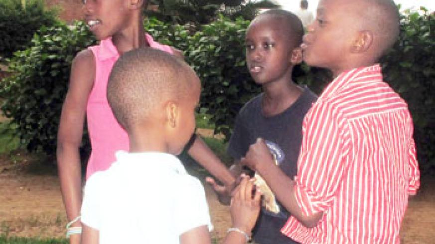 Children of  Gisimba Orphanage  at Nyamirambo playing. If lucky, these children will have a place to call home. New Times /Photo.D.Umutesi