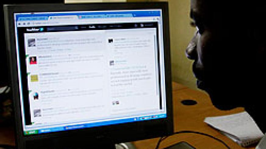 The New Times Senior Reporter Edwin Musoni moderates the discussion on Twitter. The New Times /Timothy Kisambira