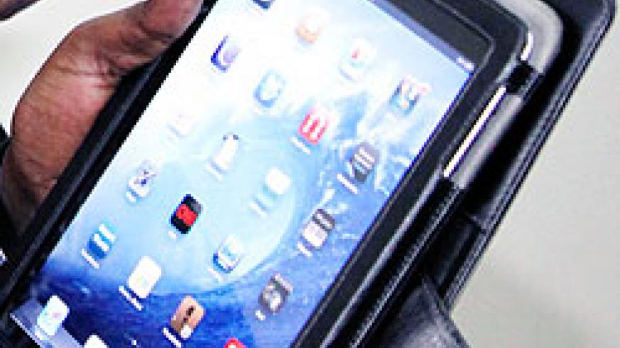 The iPad will reduce paperwork in government institutions if introduced. The New Times /Timothy Kisambira.