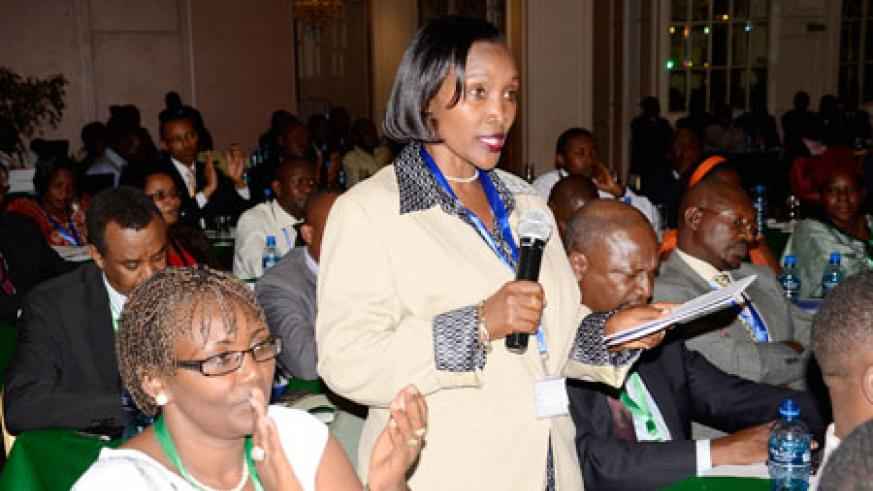 Connie Bwiza who is among the RPF representatives at the parties' forum in Nairobi. The New Times /Gashegu Muramira.
