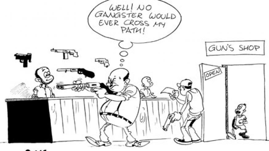 Civilians are allowed to own guns as long as they seek permission from the National Police and pay the designated annual fee.
