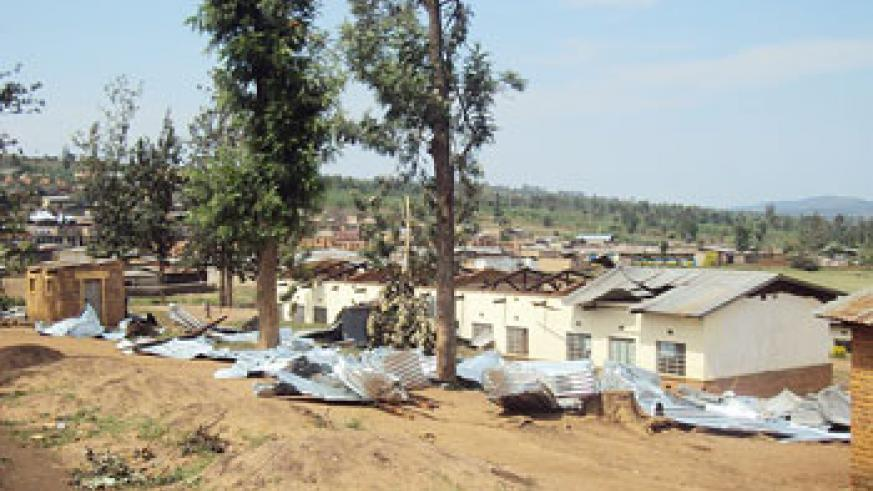A number of schools and houses in Nyagatare and Gatsibo districts were destroyed by heavy rains in the past. The New Times/File.