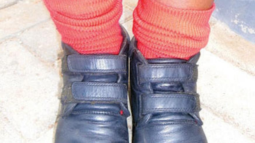 Fitting shoes make walking to school comfortable.