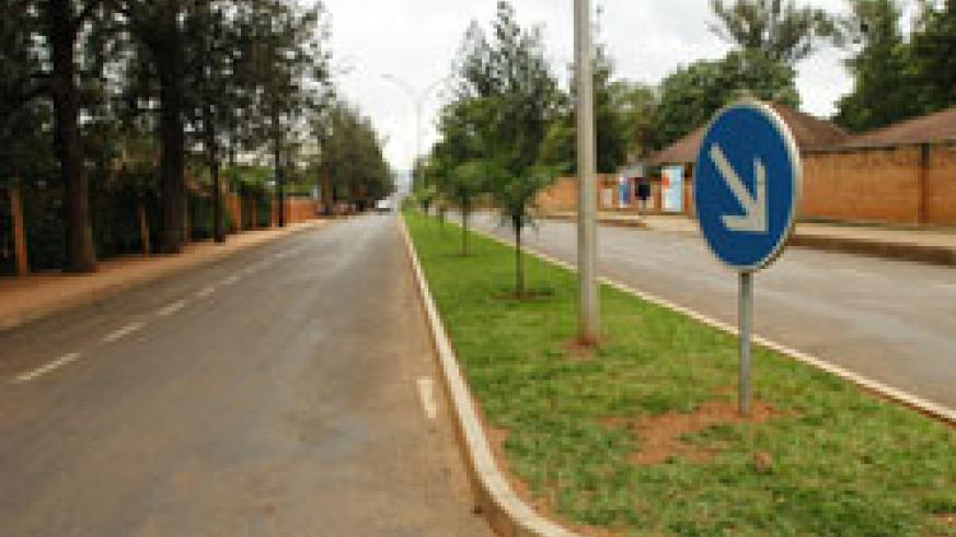 A street in the Kigali city centre; Kigali City residents will play a pivotal role in the envisaged road naming project due from this Saturday.The New Times /File.
