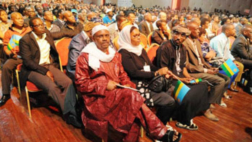 Members of the Rwandan Diaspora in France during a recent meeing with the President. The New Times /Ffile.