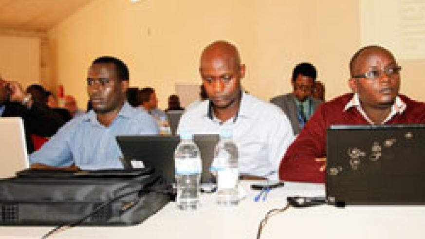 Health officials during the Health Sector Review meeting yesterday.The New Times /Timothy Kisambira