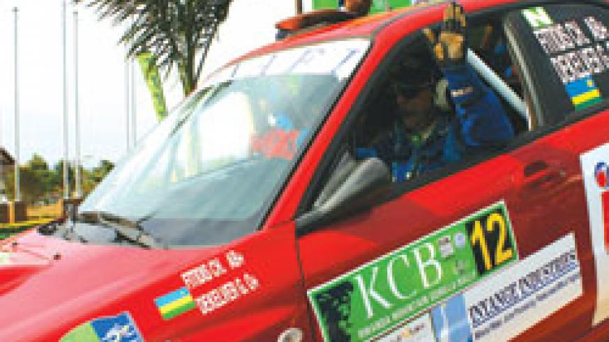 Fitidis finished 5th in last year's KCB Mountain Gorilla Rally. The New Times / File