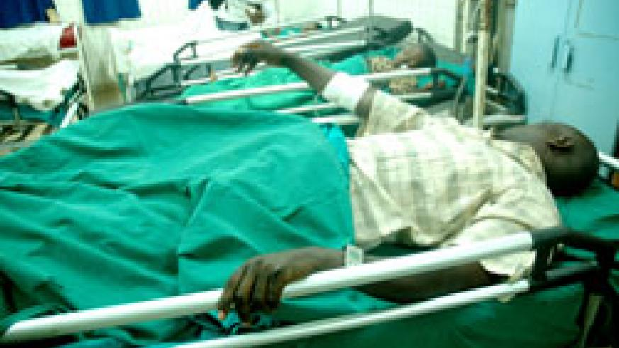 A patient in one of the country's health facilities. Medics have warned against ignoring common ailments which could deteriorate in the long term. The New Times /File.