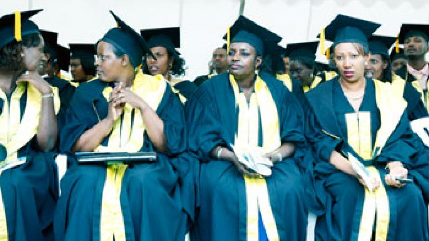 Some of the graduates at KIM's graduation ceremony, Last week. The New Times / File
