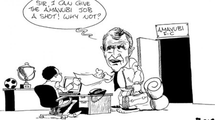 APR coach Ernest Brandts would happily take the Amavubi job if given a chance.