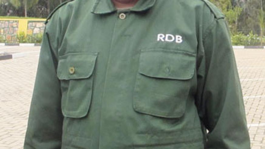Louis Rugerinyange, Chief Warden at Nyungwe National Park. The New Times / Doreen Umutesi