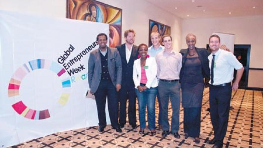 The team behind the first edition of Kigali Business Inspiration. Courtesy photos.