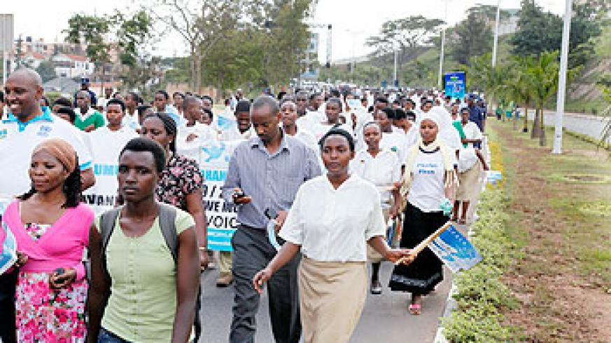 Thousands  who share the same concept of a peaceful Rwanda, gathered. The New Times / File