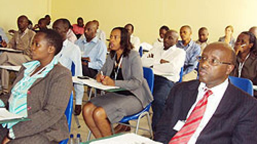 Some of the Judges and prosecutors at the training at the Nyanza based law school. The New Times \D.Sabiiti