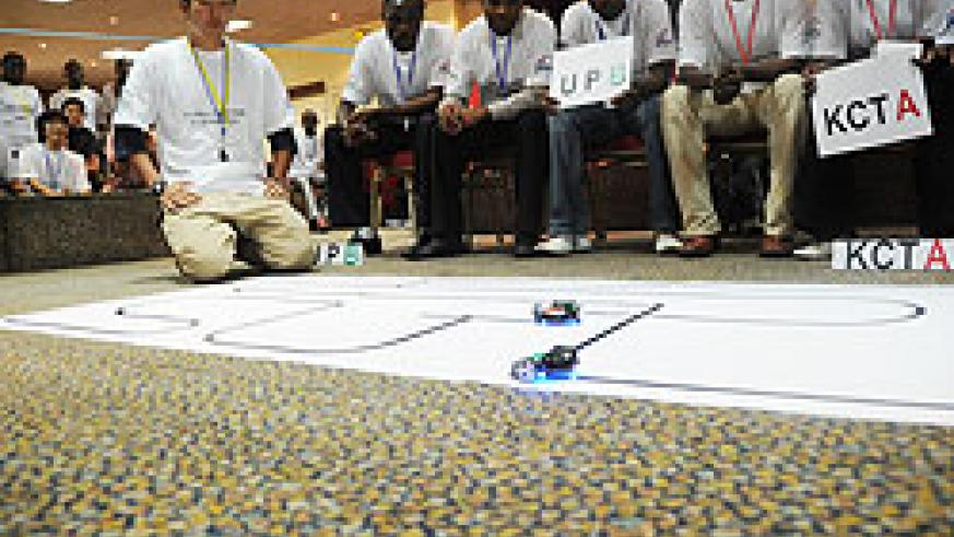 JICA instructors facilitate students in a past sicence exhibition. Musanze Sciences School has been a key beneficiary in sciences  The New Times \File photo