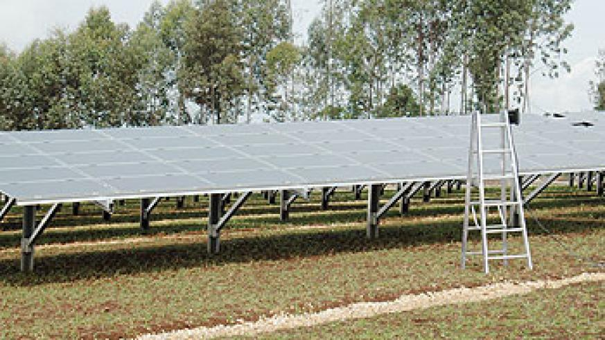 Solar will address energy shortages in our country. The New times / File photo