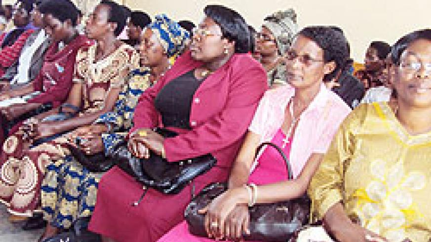 A cross section of teachers during celebrations to mark the Teachers' Day in Muhanga District on Wednesday. The New Times Daniel Sabiiti