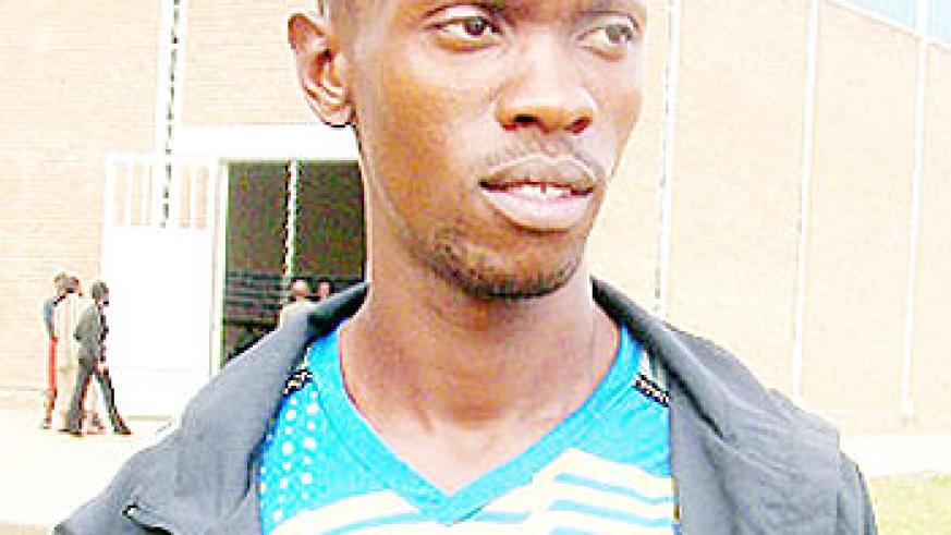 Maputo Games Gold medalist Cliff Hermas Muvunyi. The New Times/File photo .