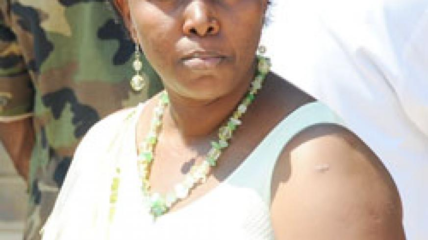 DISAPPOINTED; Muhanga District Mayor Yvonne Mutakwasuku
