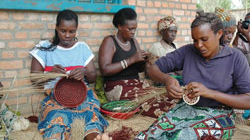 With access to credit, the women are able to start up income generating activities including weaving.