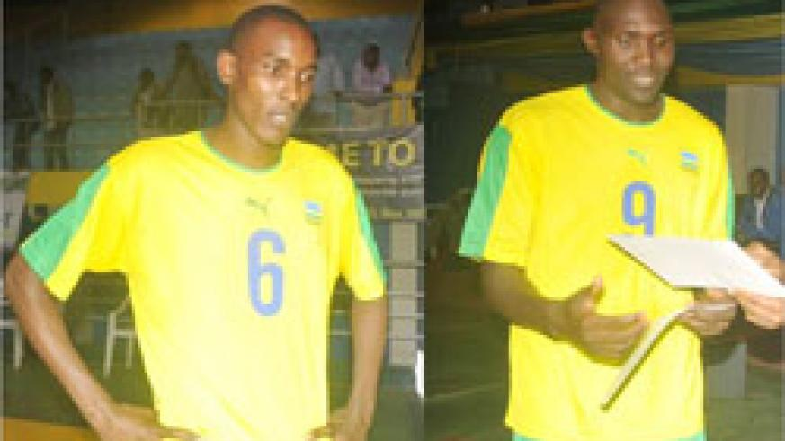 Vincent Dusabimana (L) and Lawrence Yakan