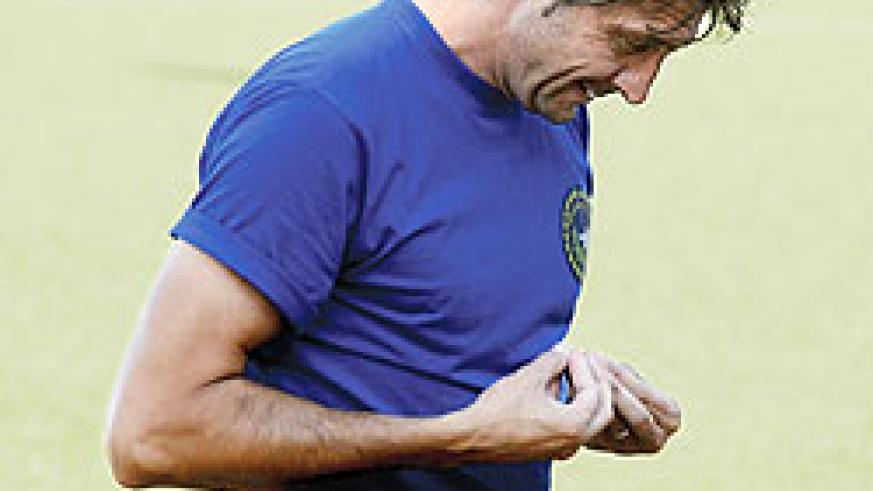 Police coach Goran Kopunovic is eager to see off Mukura this afternoon. The New Times/File photo