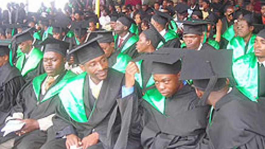 ISAE graduates at a previous ceremony. The  institution is set to reduce the length of its academic programmes. The New Times/ File photo