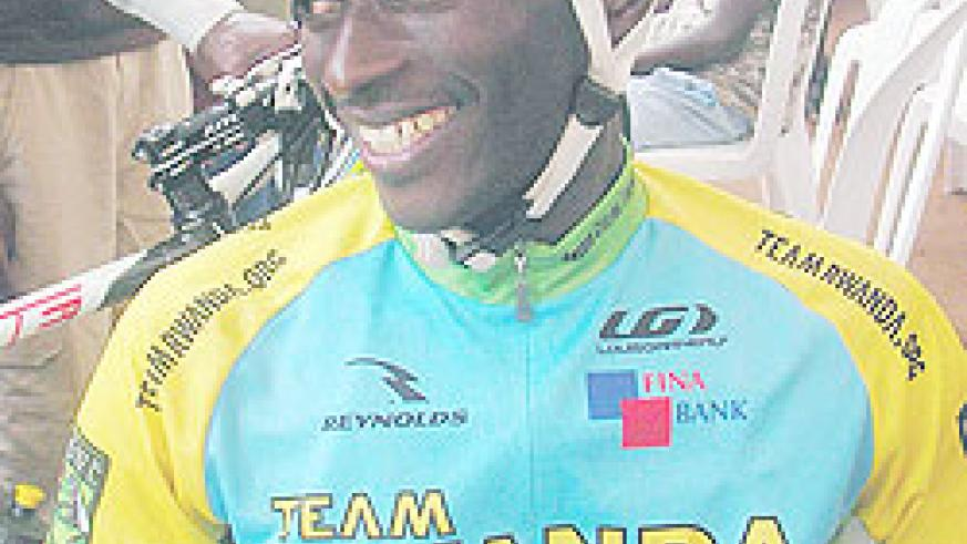 Obed Ruvogera won Saturday's race in Huye, Southern Province. The New Times / File photo