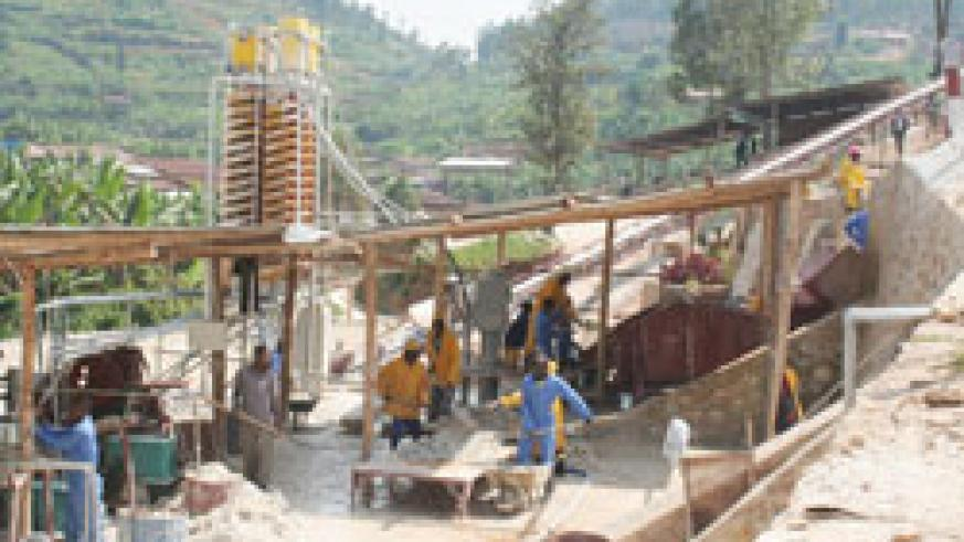 Mining activities at a facility by Rutongo Mines. The new legislation will streamline the sector. The New Times / File
