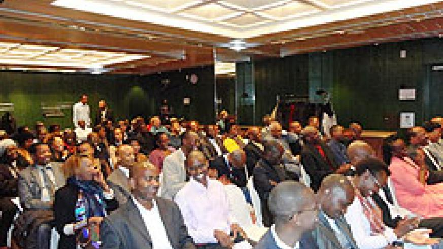 Scores of members  of the Rwandan Diaspora in Switzerland turned up to listen to Premier P Damien Habumuremyi. The New Times /Courtsey